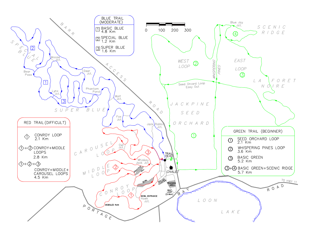Temiskaming Nordic Trail Map